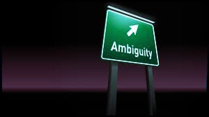 Ambiguity sign